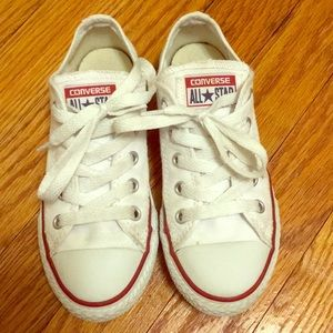 GC Kids White Converse All Stars Low Size 12 T